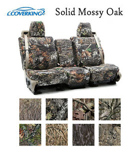 Coverking Custom Seat Covers Neosupreme Front Row Solid Mossy Oak Camo