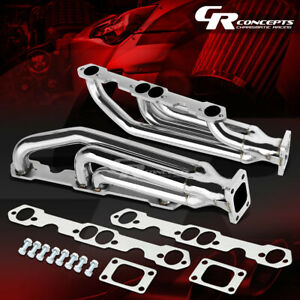 For Chevy Sbc 283 327 350 400 Stainless Racing Twin Turbo Charger Manifold Kit