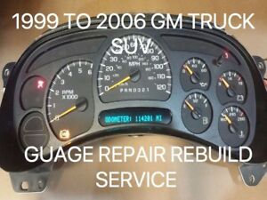 Chevrolet Gm Escalade Speedometer Gauge Instrument Cluster Gauge Display Repair