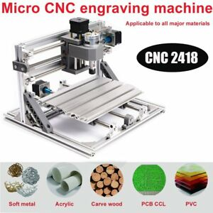 Diy Cnc Router Kits 2418 Grbl Control Carving Wood Milling Engraving Tool Km