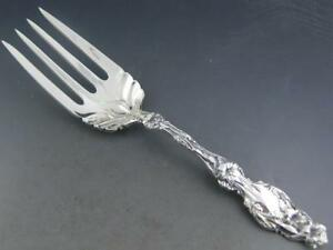 Sterling Gorham 9 1 8 Meat Serving Fork Same As Whiting Lily No Mono Excellent