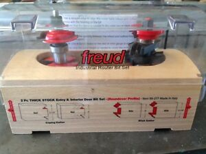 Freud 99 277 Rail And Stile Router Bit Set For 2 1 4 Doors