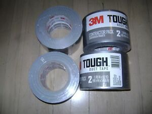 Lot Of 4 3m Tough Gray Duct Tape 1 88 Wide X 60 Yards 2960 2pk 8 Rolls