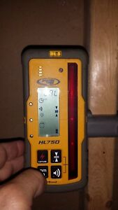 Used Spectra Precision Hl750 Laser Receiver And Rod Clamp For Rotary Laser