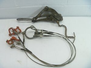 M Klein Sons Chicago Bell System 2 57 Wire Vintage Linemans Cable Puller Tool