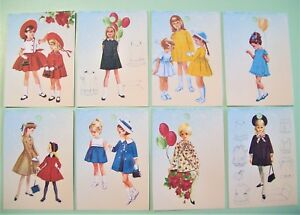 Vintage Retro 1940s 1950s Dress Kids Girls Gift Price Tags Cards And Stickers
