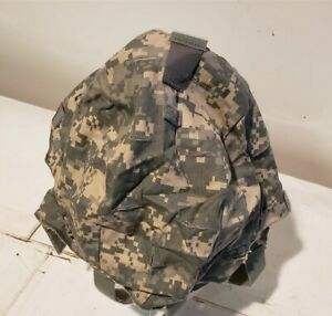 ACH Helmet Cover US Military Issue ACU Digital Small Medium IR Tabs Good