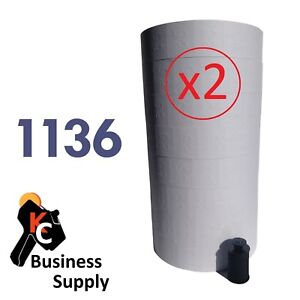 1136 White Labels For Monarch 1136 And 1138 2 Sleeves 16 Rolls Ink Included