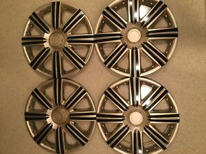 15 Inch Hubcaps Wheel Covers Universal Wheel Rim Cover 4 Pieces Set Gold Black