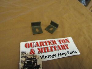 Jeep Willys Mb Gpw M38 M38a1 Nos Rear Seat Pivot Retainer Pair