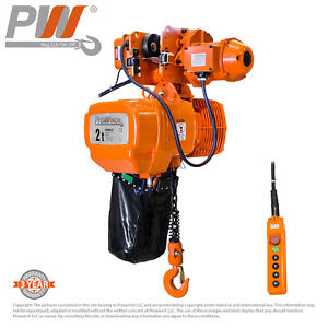 Prowinch Electric Chain Hoist Power Trolley 4 400 Lbs 19 Ft G100 Chain 2 Speed