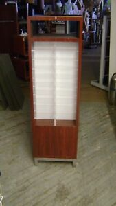 Brown Retail Lighted Eye Wear Sun Glass Display Case Rack