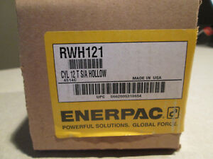 Enerpac Rwh 121 Rwh121 12 Ton Hydraulic Cylinder Hollow Ram Usa Made New