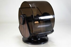 Rolodex Wood Grain Large Jumbo Sw 35 Vtg Swivel Rotary Card Holder