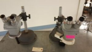 Bausch Lomb Microscope Head 10x Eyepieces And Stand 0 7x 3x Stereozoom