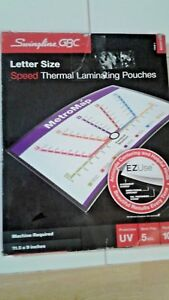 New Swingline Gbc Letter Size Speed Thermal Laminating Pouches 11 5 X 9 Ez Use