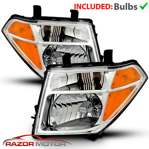 2005 07 08 Replacement Headlight Pair For Nissan Pathfinder Frontier W Bulb