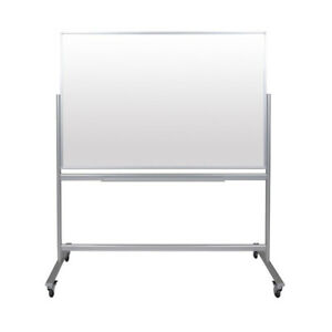 60 w X 40 h Double sided Mobile Magnetic Glass Marker Board