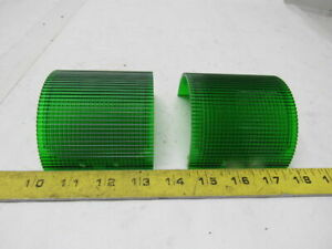 Federal Signal Safety Signal Light Beacon Tower Litestak Lens Green Lot Of 3