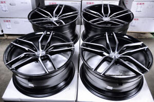 20 Staggered Wheels Mercedes Amg Cl550 Cl55 Cl65 Cls500 Cls55 Black 5x112 Rims