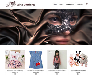 Girls Clothing Turnkey Website Business For Sale Profitable Dropshipping