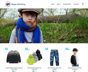 Boys Clothing Turnkey Website Business For Sale Profitable Dropshipping