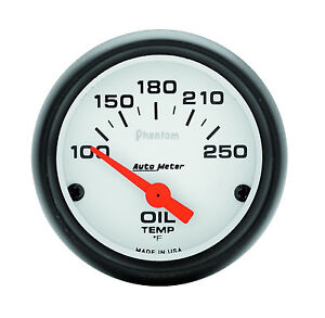 Auto Meter Phantom Electric 100 250 Deg F Oil Temperature Gauge 2 1 16 52mm