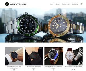 Luxury Watches Turnkey Website Business For Sale Profitable Dropshipping