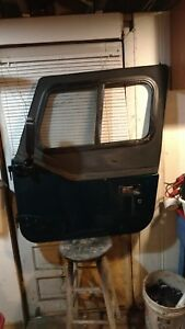 1987 1995 Driver Left Front Door Half Door Fits Wrangler Color Green