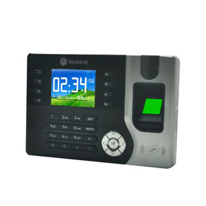 2 4 Tft Fingerprint Time Attendance Clock Employee Payroll Check in Recorder