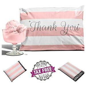100 pack Pink Thank You Poly Mailers 10 x13 Envelopes Mail Bags