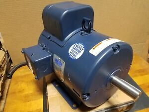 New Leeson 5 Hp Single Phase Motor 131537 00