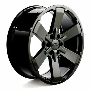 Black Tahoe Wheels Silverado Chevy Rims 5662 Ck162 22 Gloss Rally Midnight New
