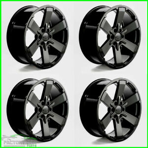 2017 Chevy Silverado Black Tahoe Wheels Rims 5662 Ck162 22 Gloss Rally Midnight