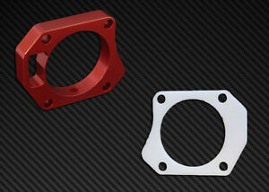 Ts Throttle Body Spacer Gasket Combo Red Honda Civic Si 2006 2011 70mm