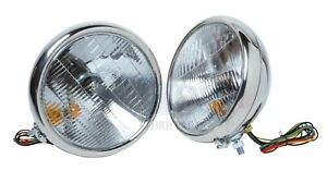 Headlights S Steel H Lamps W Halogen T Signal 12 Volt 1932 Ford