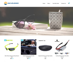 Sun Glasses Turnkey Website Business For Sale Profitable Dropshipping