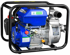 New Duromax Water Pump 7hp Gasoline Engine 158 Gpm 2in Portable 208cc 4 Stroke