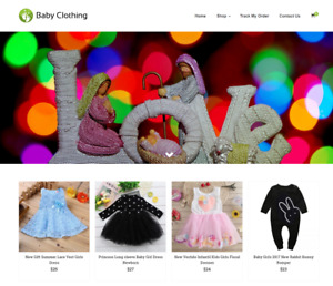 Baby Clothing Turnkey Website Business For Sale Profitable Dropshipping