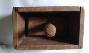 Vintage Old Wood Butter Mold Press