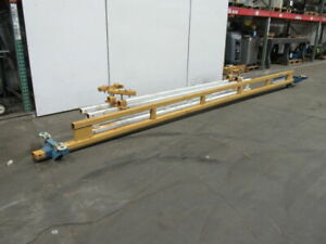 Gorbel 1 2 Ton Underhung Bridge Crane 20 Span X 12 Run W push Pull Trolley