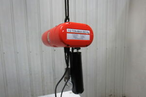 Cm Lodestar Model J 1 2 Ton 1000lb 110v Electric Chain Hoist 20 Travel 32fpm
