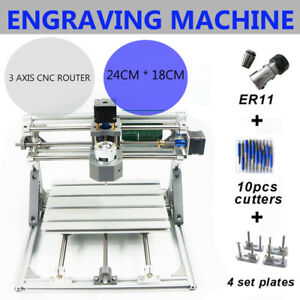 3 Axis Cnc Router Kit 24x18 Er11 Engraver Machine Diy Pcb Milling Wood Carving