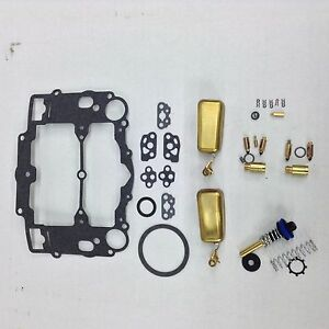 Edelbrock Carter Afb Marine Carburetor Kit 1409 1410 650 750 Cfm 2 Brass Floats