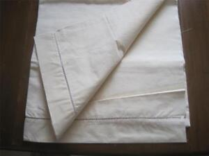 Unused Vintage French Linen Metis Sheet Great Fabric Upholstery Curtains