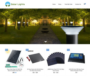 Solar Lights Turnkey Website Business For Sale Profitable Dropshipping