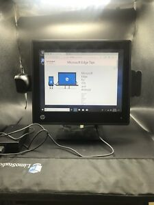 Hp Rp7800 17 Terminal Point Of Sale Pos 4gb Ram 320gb Hd windows 2d Scanner