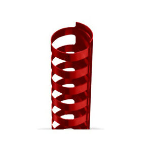 1 2 Red Plastic 24 Ring Legal Binding Combs 100pk