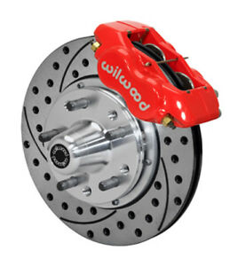 Wilwood 140 11018 dr 84 93 Mustang Front Drilled Slotted Kit Red 5830