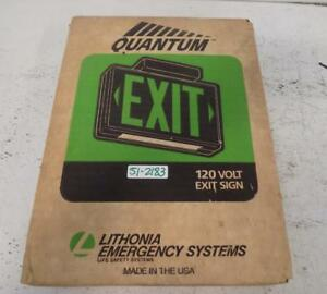 Lithonia Lighting Quantum 120v Exit Sign Msw3r 120 wks